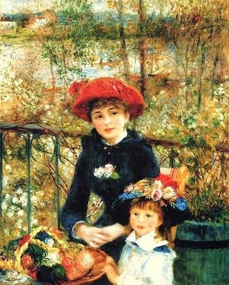 Pierre Auguste Renoir .Two Sisters On the Terrace oil on canvas .