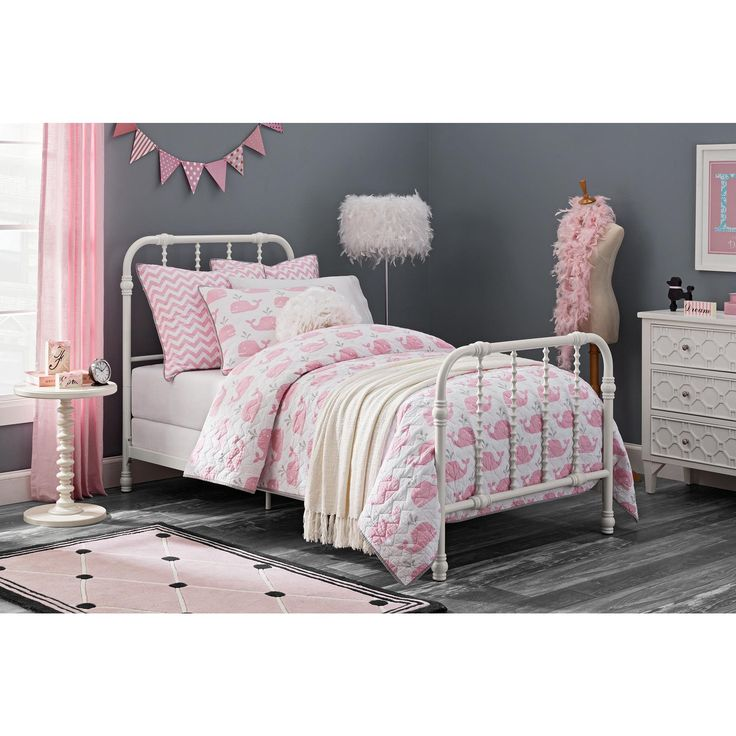 DHP Jenny Lind White Metal Twin Bed (Twin bed, white)