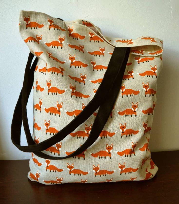 Back in stock!  http://etsy.me/2zpxv4y #maisonphoenix #badassmaker #handmadeinedinburgh #foxes #fox #tote #grocerybag #markettote #shopper #shoppingbag #foxprint #reusable