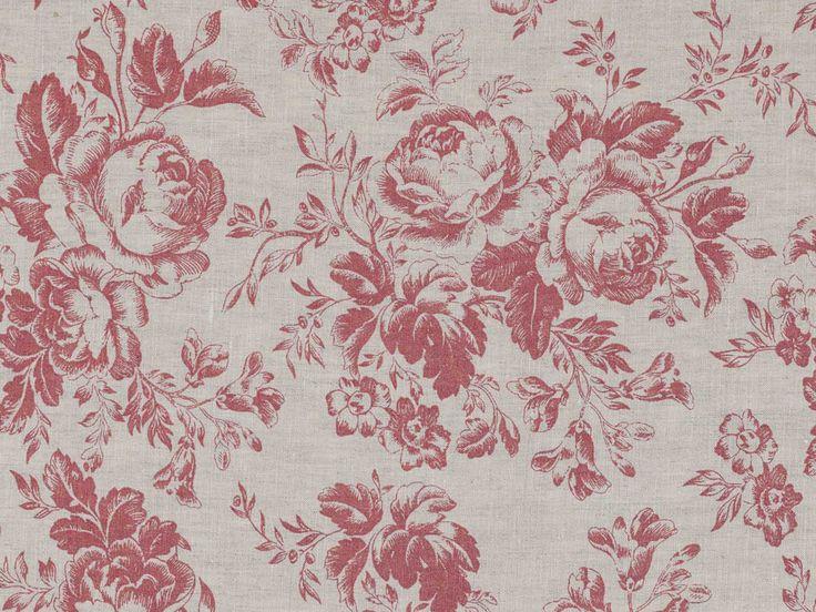 Cabbages & Roses Paris Rose Raspberry Fabric