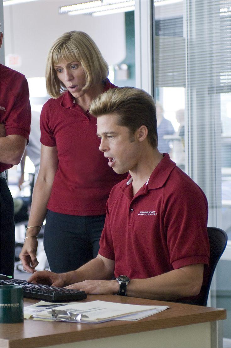 """""""Burn After Reading"""" movie still, 2008.  L to R: Frances McDormand, Brad Pitt."""