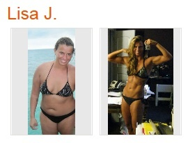 Real people, real results with P90X and Shakeology: Lisa J, a 23 year old woman who lives in Colorado, lost 73 pounds and dropped from 44 to 12% body fat with P90X and Shakeology.