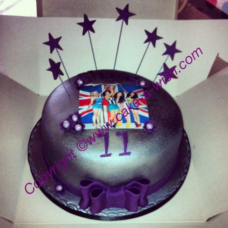 Little Mix Silver & Purple Spray Paint Birthday Cake