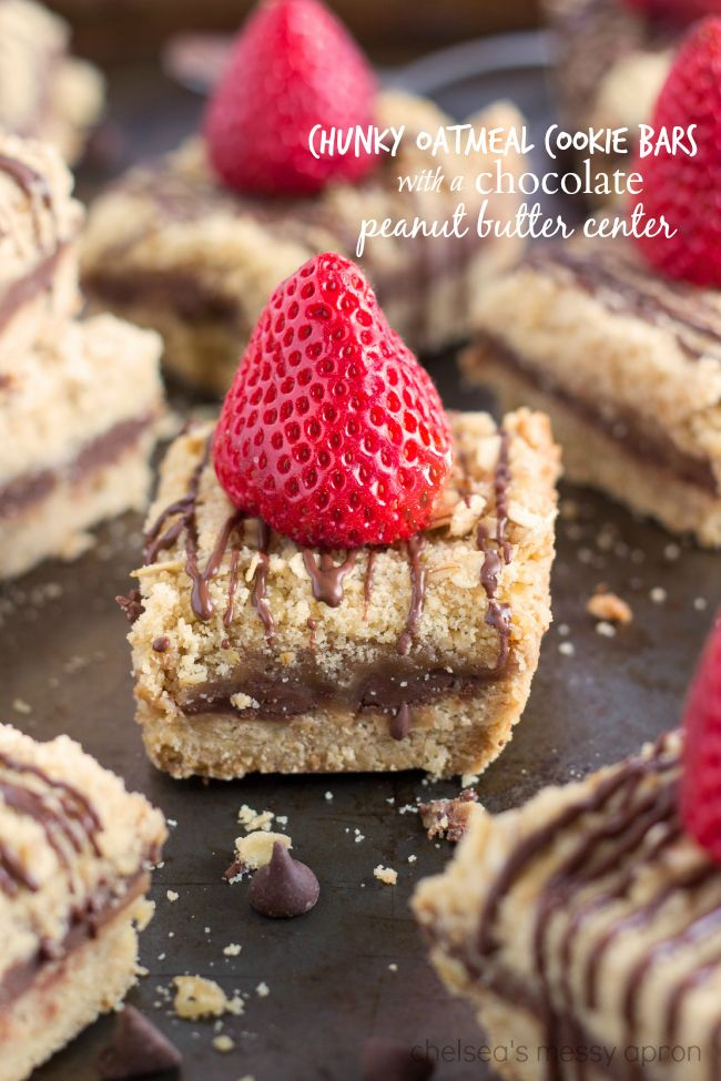 Peanut Butter Chocolate Oatmeal Cookie Bars