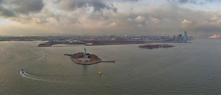 Day 10 Travel: Statue of Liberty, Liberty Island, New York, USA - AirPano.com • 360° Aerial Panoramas • 3D Virtual Tours Around the World