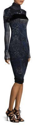 Fuzzi Velvet Paisley Dress
