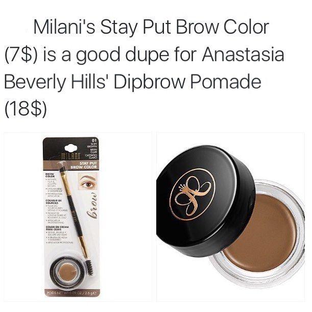 "21 curtidas, 1 comentários - Makeup Dupes And Tips✨ (@frenchfreyess) no Instagram: ""Milani Cosmetics are amazing for their price! #makeup #makeuptips #makeupdupes #makeupjokes…"""