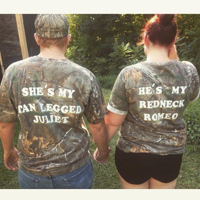 Redneck Romeo & Tan Legged Juliet shirts
