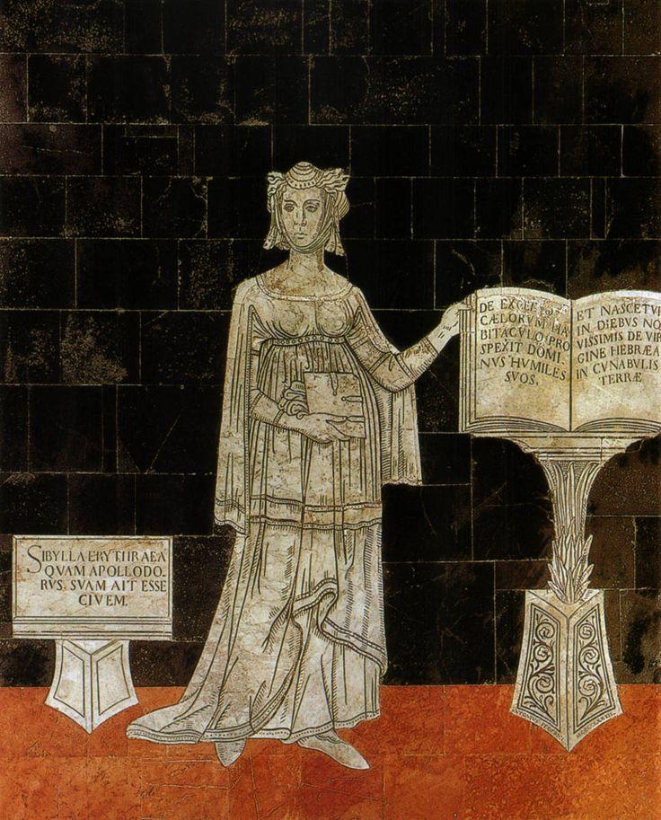 Pavimento del Duomo di Siena - Navata destra - Sibilla Eritrea (ionica ...