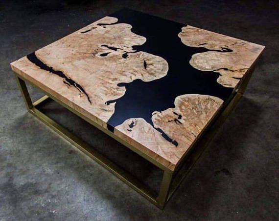 Table Basse Bois D Olivier Et Resines Epoxy Wood Table Coffee Table Wood Coffee Table