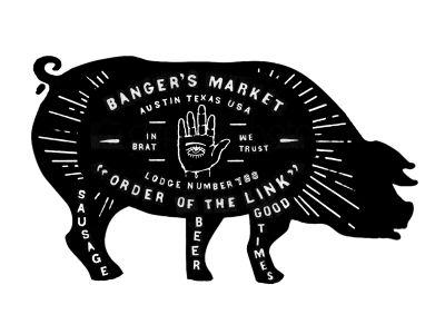 Designspiration — Dribbble - Banger's Restaurant Signage by Curtis Jinkins