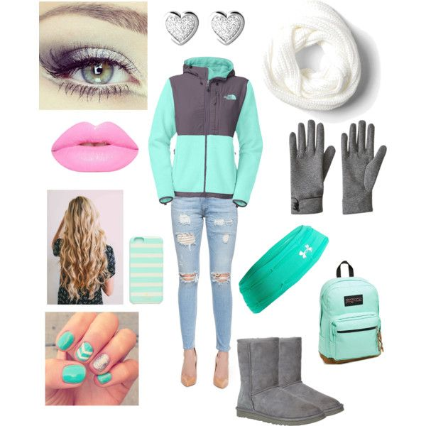Oh, Just Minty! by shaydaniels547 on Polyvore featuring polyvore, fashion, style, The North Face, rag & bone/JEAN, UGG Australia, JanSport, Links of London, Kate Spade, Under Armour, Concord, Lime Crime and Revlon