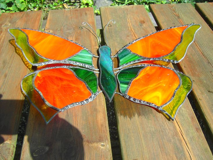 vlinder orange