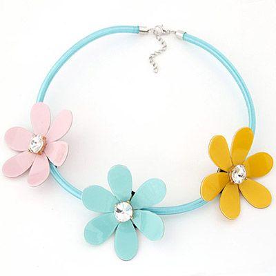 Choker Flower Decorated Simple Design