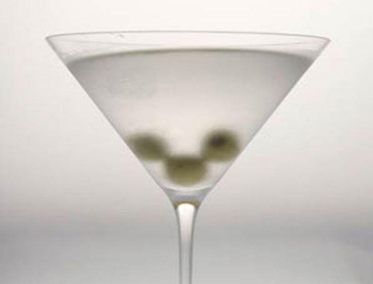 Gwyneth's Best Dirty Martini- shake it until it's snowy