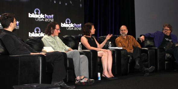 To celebrate the 15th anniversary of the Black Hat Conference here, a panel of experts got together to expound on what they see as the privacy and security mess of our times, and they had plenty to say about the U.S. government, cyberwar and Google.