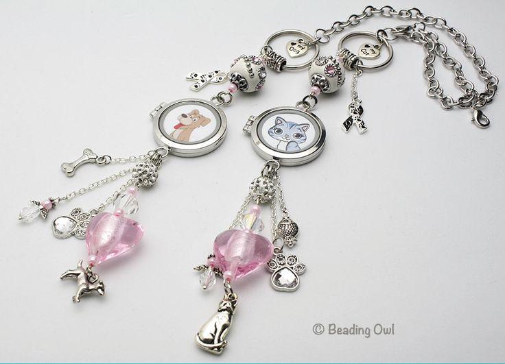 Pink Pet Photo Memorial Rear View Mirror Charm, Car Accessories  / Encanto del espejo retrovisor para carro, Photo de mascota, rosada by BeadingOwl on Etsy