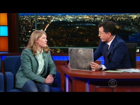 WATCH: Stephen Colbert's fascinating interview with pyramid-discovering 'space archaeologist' Sarah Parcak. Her pictures are fascinating.