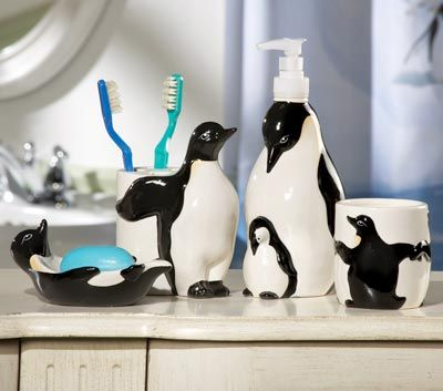 Penguin Bathroom Accessories Since I Collect Penguins This Is