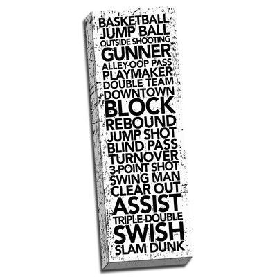 Picture it on Canvas 'Basketball Game Time Words' Textual Art on Canvas