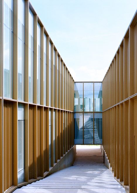 Cultural Center, Media Library and Music and Dance School by Ateliers O-S Architectes
