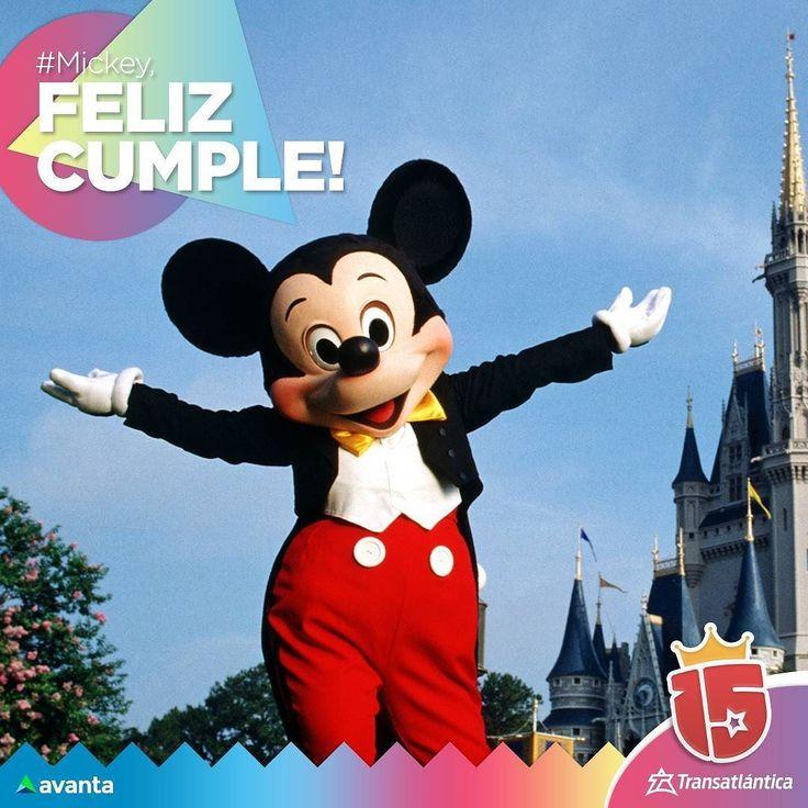 #HappyBirthday dear #Mickey!  Al más lindo de todos hoy le toca festejar! #MickeyMouse #Disney #Transatlantica #Enjoy15 #avanta