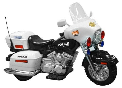 Kid Motorz Police Motorcycle Battery Powered Riding Toy - It's time for some toddler street justice with this 12V Battery Operated Police Motorcycle and its working sound and lights. Children are going...
