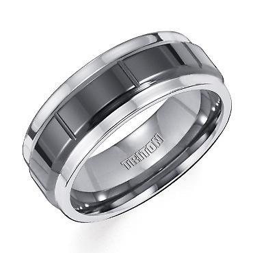 TRITON Tungsten Carbide and Ceramic Band | Shop REEDS Jewelers