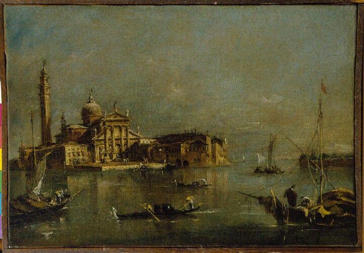 Isola di San Giorgio Maggiore con la punta della dogana. 1780  Accademia Carrara di Bergamo