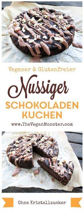 Himmlischer Schokoladen Nuss Kuchen Vegan Glutenfrei Ohne Zucker