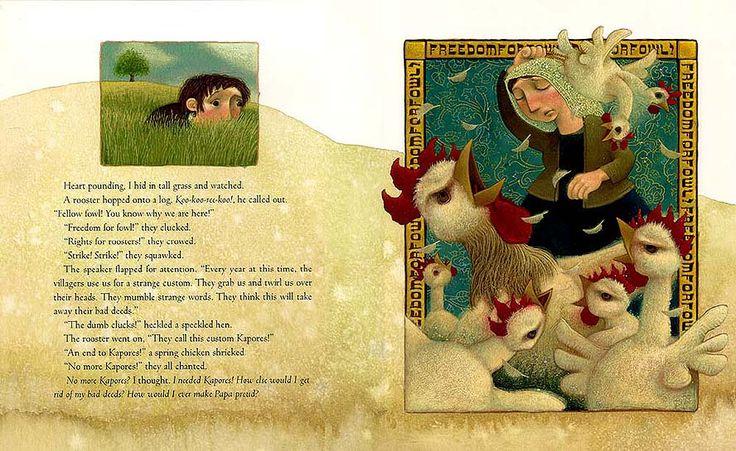 "Matthew Trueman illustration for ""When the Chickens Went on Strike""."