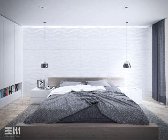 projekt wnętrza sypialni dla osób, które cenią minimalizm i prostotę...