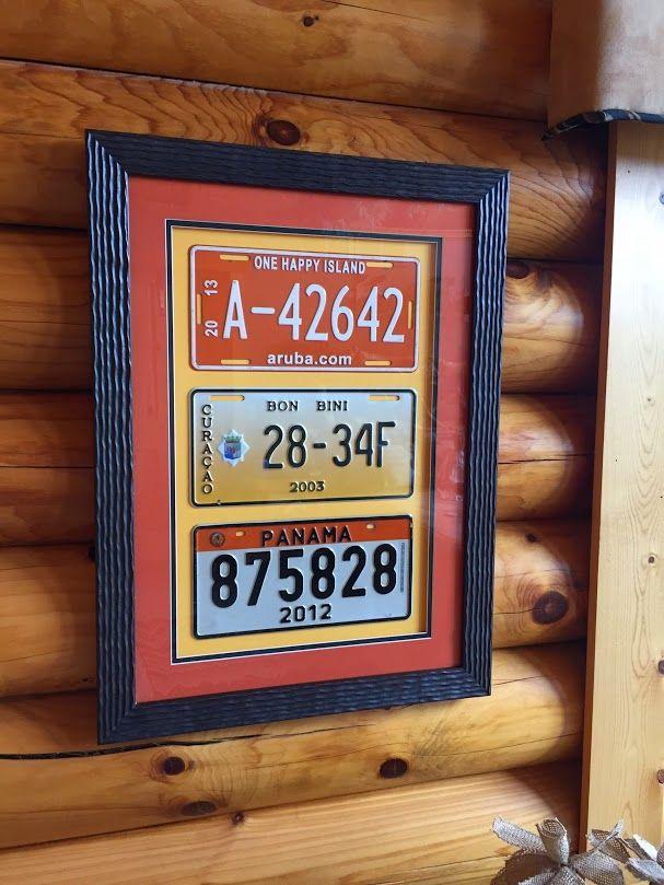 Custom Framed License Plates as a Souvenir #customframing #carribean