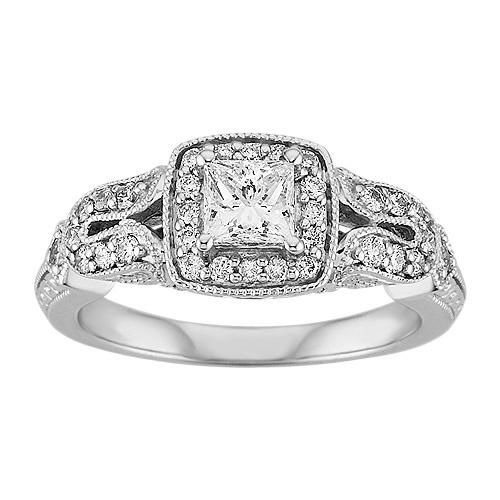 Spectacular Diamond Engagement Ring in K White Gold Fred MeyerFantasy