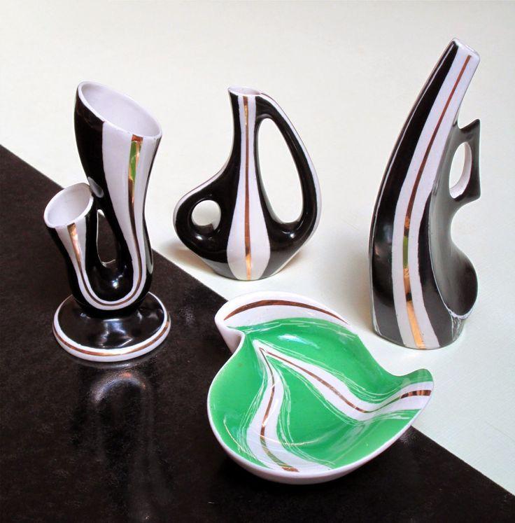 Výrobky katovické porcelánové manufaktury Steatyt