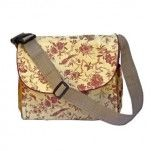 iFrogee Silk Brocade Nappy Bag - Gold & Red