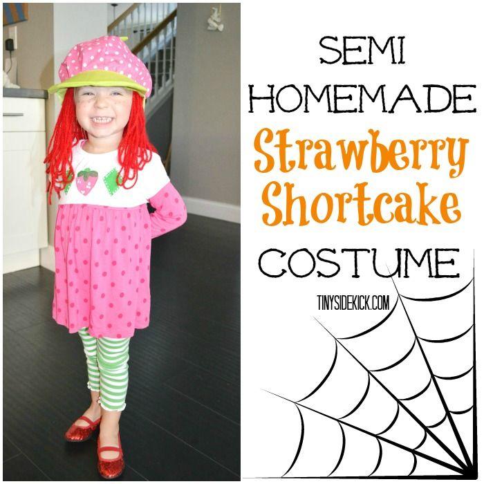 Strawberry Shortcake Costume {a semi-homemade version}