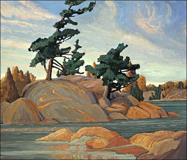 "Franklin Carmichael - ""Island, Georgian Bay"""