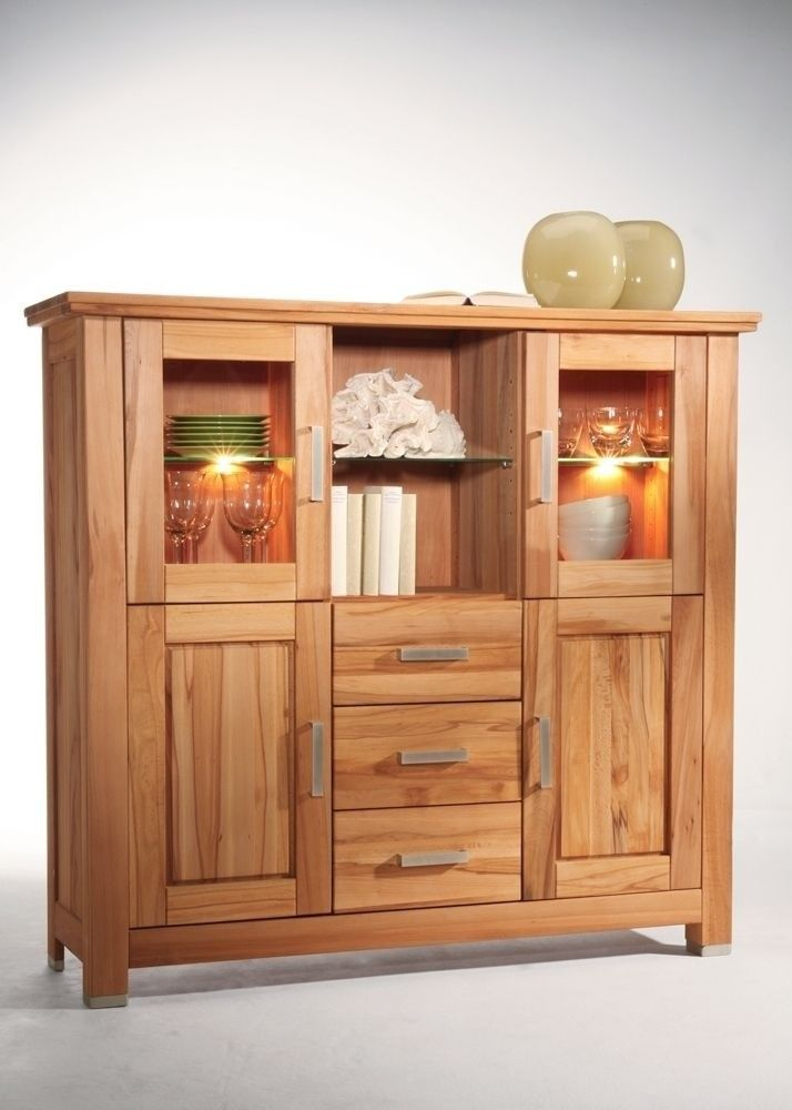 Fabulous Highboard Anna Holz Kernbuche Massiv Buy now at http