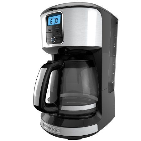Black+decker 12 Cup Automatic Programmable Coffeemaker with Removable Water Reservoir, Stainless Steel Coffeemaker, CM4100S, Silver