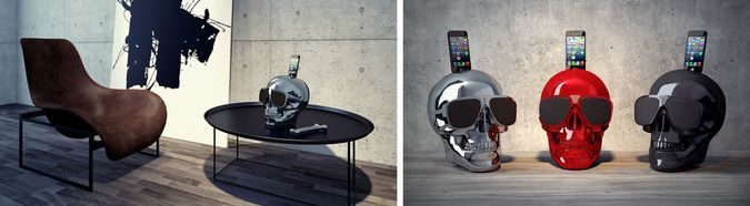 Jarre Technologies, iPhone Speaker, Bluetooth, Wireless Music, iPhone Stand On Table http://coolpile.com/gadgets-magazine/aeroskull-hd-iphone-bluetooth-speaker/ via coolpile.com  #Bass #Bluetooth #Design #iPhone #iPhone Dock #Music #Remote Control #Speakers #Wireless #coolpile