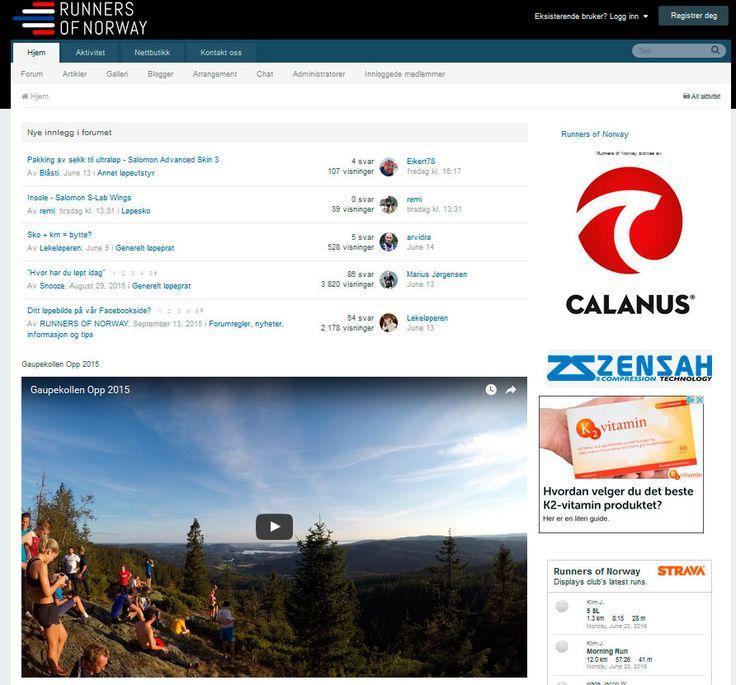 Mobilvennlig nettside for Runners of Norway. Levert av Nettrakett AS