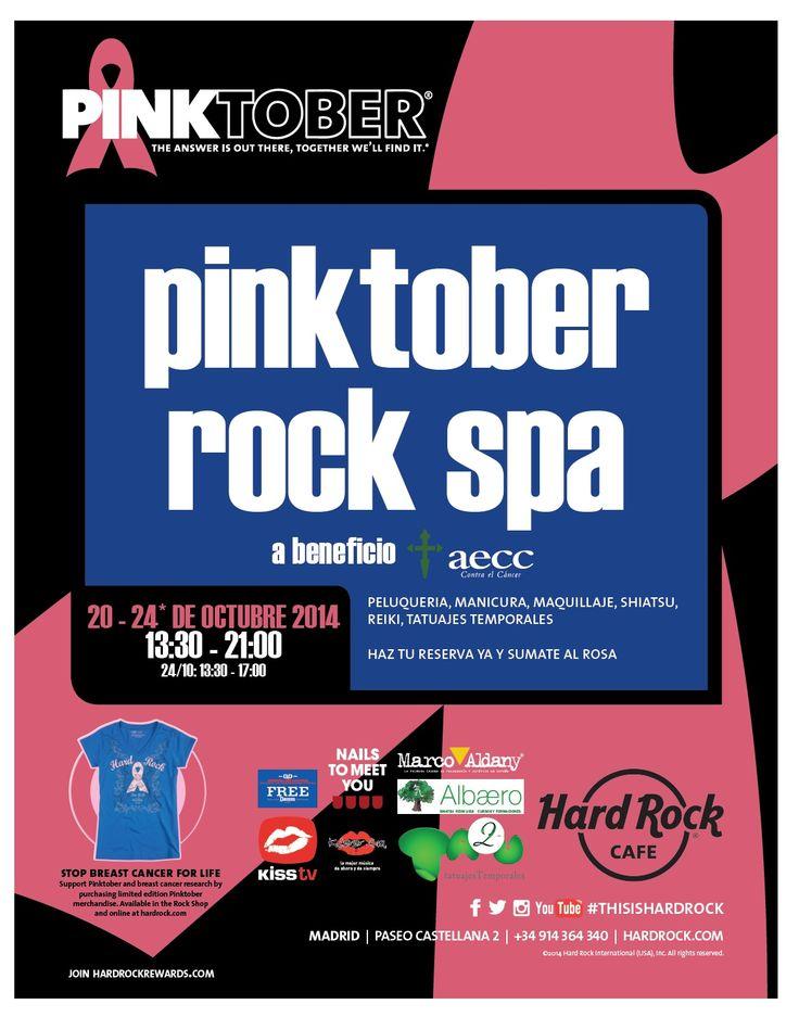 La próxima semana......súmate a #PINKTOBER en Hard Rock Cafe Madrid para el #cancerdemama a favor de la aecc Madrid  KISS TV Estrella Damm Nails to meet you Marco Aldany Albaero.eu