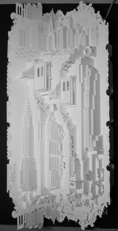 paper architectural sculpture by Dutch artist Ingrid Siliakus http://www.ingrid-siliakus.exto.org/ #paper_art #3D #sculptures