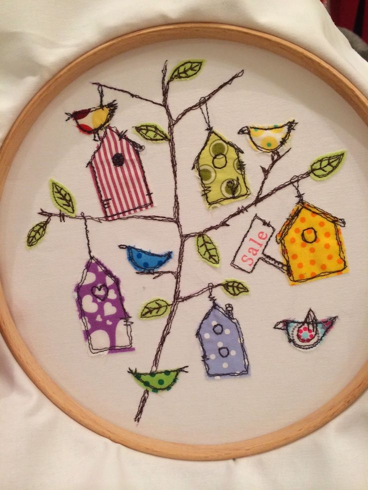 Rehpublic - Free Motion Embroidery Blog: Birdie House Doodle