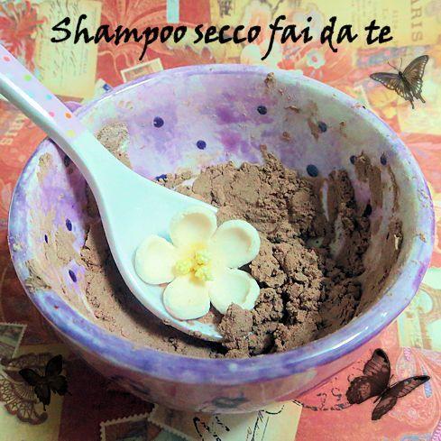 Shampoo secco fai da te ciocco-arancia