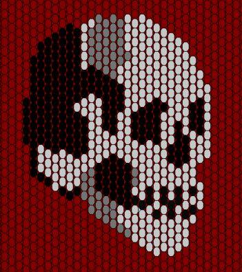 skull peyote pattern