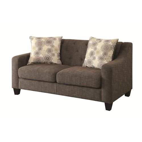 Coaster Avondale Transitional Love Seat with Tufted, Attached Back and Loose Pillow Seat Cushions - Coaster Fine Furniture