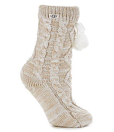 UGG Cozy Crew Sock with Pom Pom #Dillards