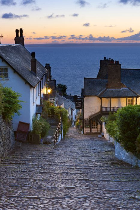 "This is Clovelly, a village in the Torridge district of Devon, England. It's steep cobbled streets make this a ""car-free"" zone. It's well known as a fishing village, tourist attraction, and it's views of the Bristol Channel."